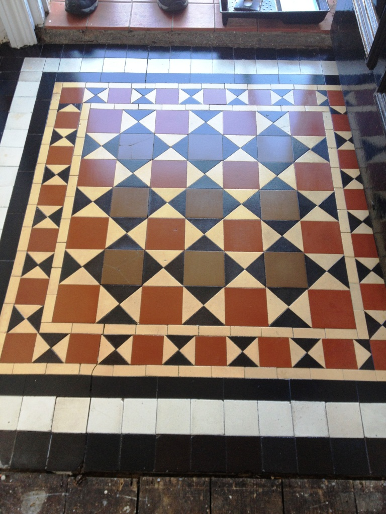 Victorian Tiled Porch in Twickenham After Cleaning