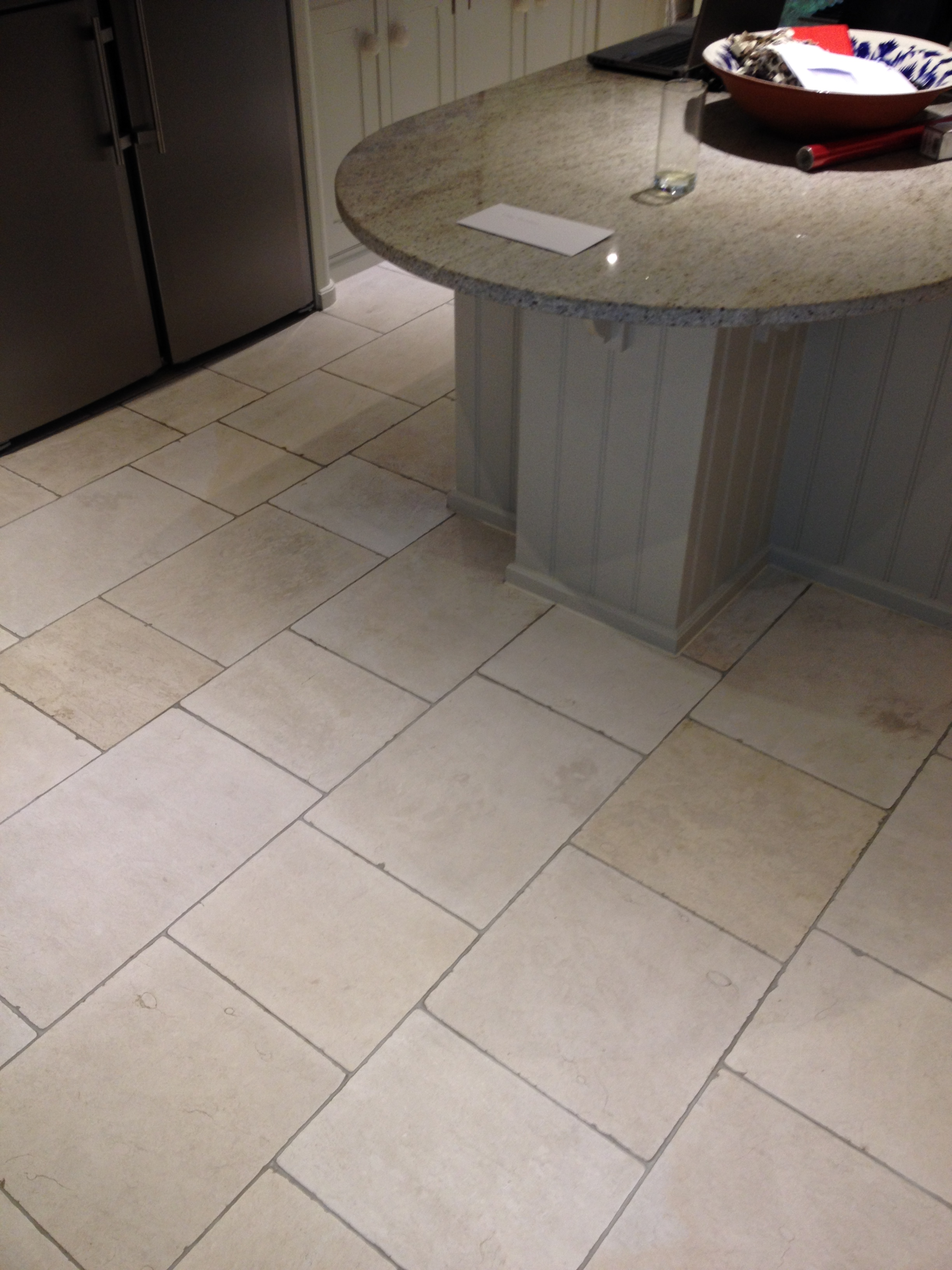Travertine Tiled Kitchen Ottershaw After Cleaning