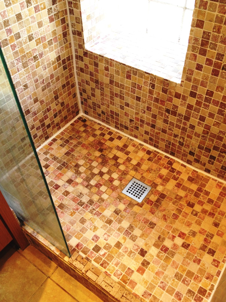 Marble Mosaic Shower Tile Refresh Richmond After
