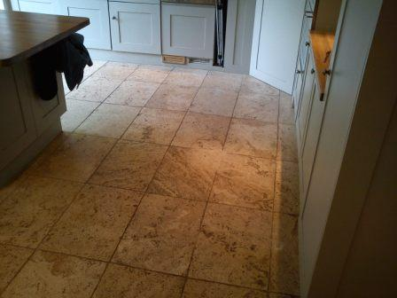 Stone Kitchen Floor Before
