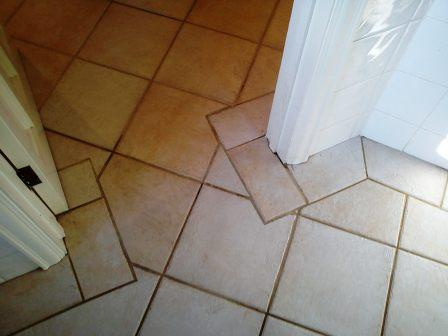 Tiled Floor Corner After