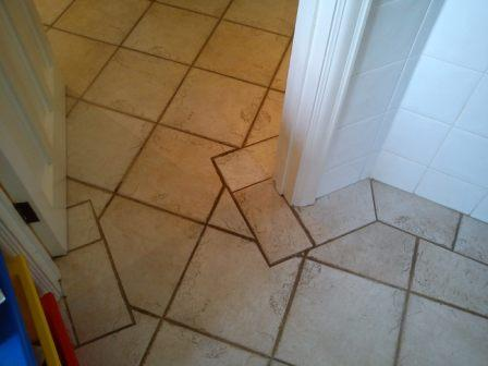 Tiled Floor Corner Before