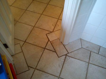 Tiled Floor Corner Before