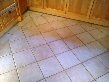 Tiled Kitchen Floor After