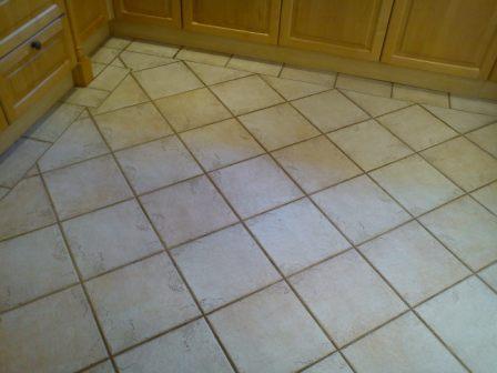 Tiled Kitchen Floor Before