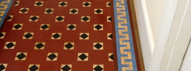 Victorian Tiled Floor Maintained in Shepperton, Middlesex