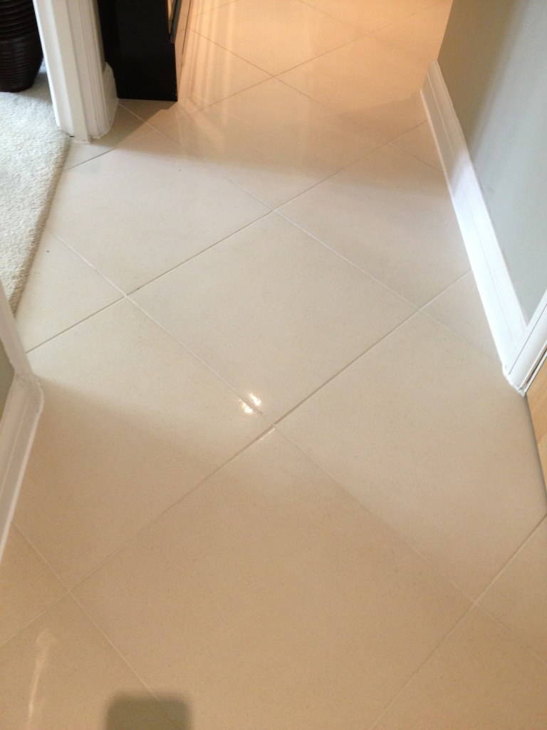 Porcelain and Grout After Cleaning