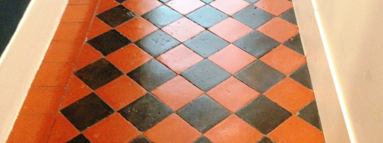 Cleaning an Edwardian Hallway Floor in Teddington