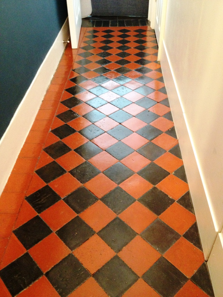 Edwardian Hallway Floor Teddington after cleaning