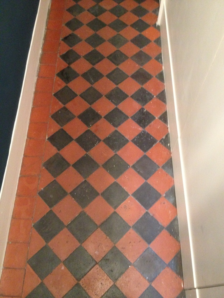 Edwardian Hallway Floor Teddington before cleaning