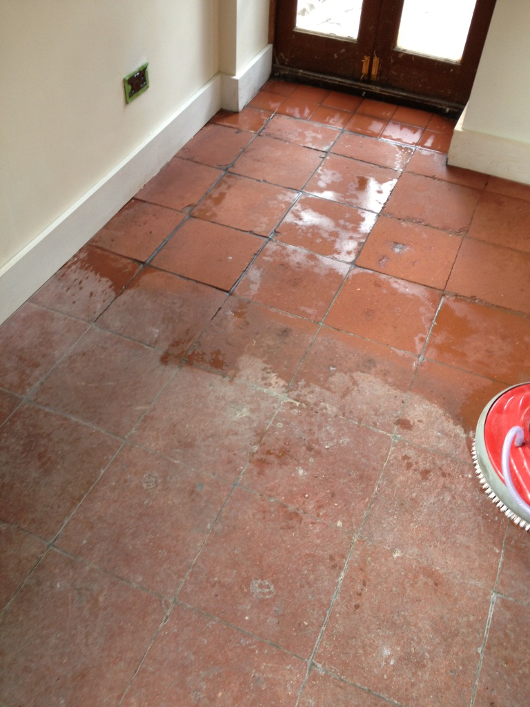 Tile cleaning stone cleaning and polishing tips for terracotta terracotta tiles in shepperton coach house during restoration dailygadgetfo Choice Image