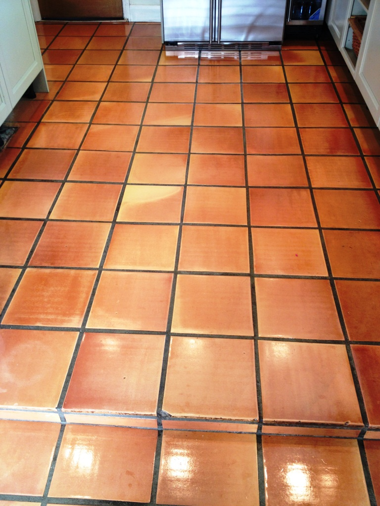 Terracotta Kitchen Floor Twickenham After Cleaning
