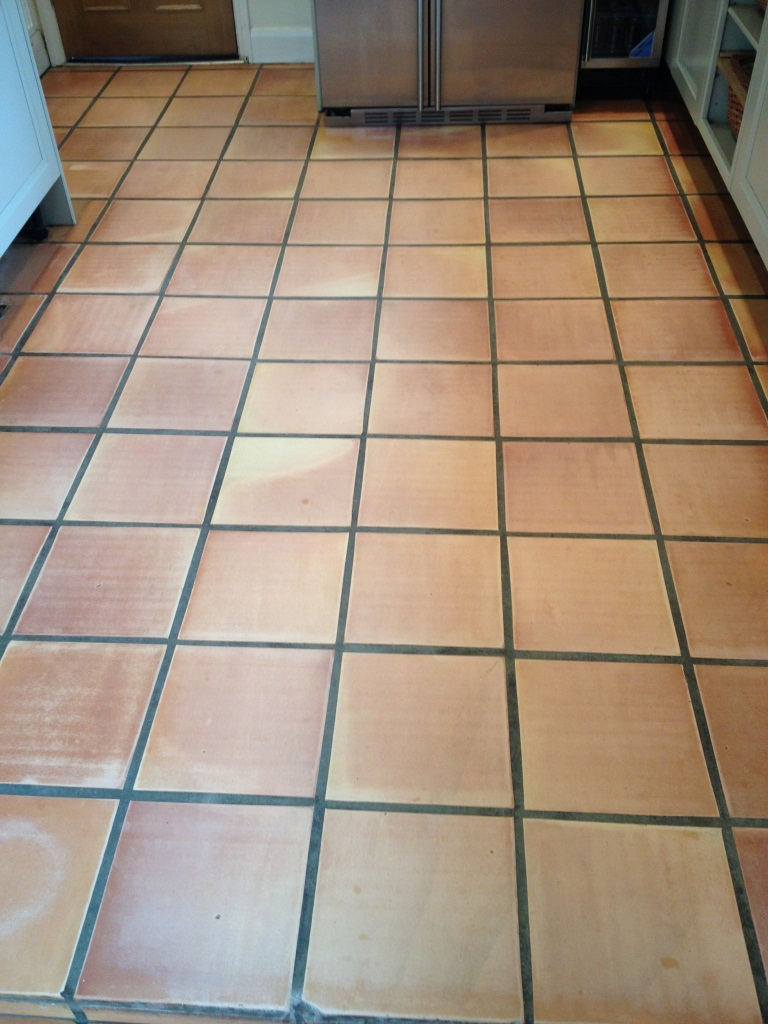 Terracotta Kitchen Floor Twickenham Before Cleaning