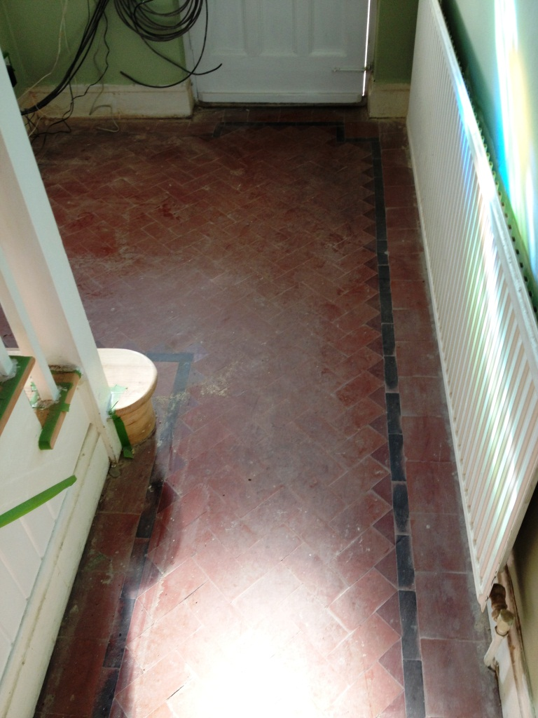 Victorian Hallway and Kitchen in Teddington Before Cleaning