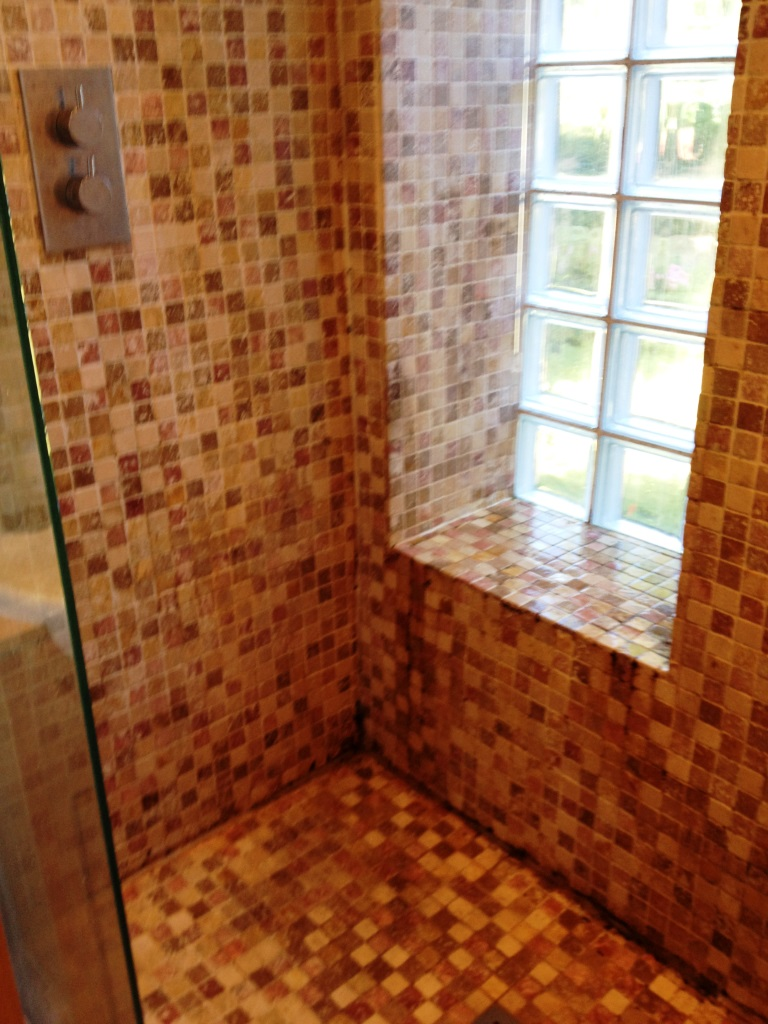 Marble Mosaic Shower Tile Refresh Richmond Before
