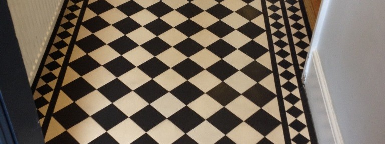 Edwardian Style Floor Cleaned and Repaired in Twickenham, Middlesex