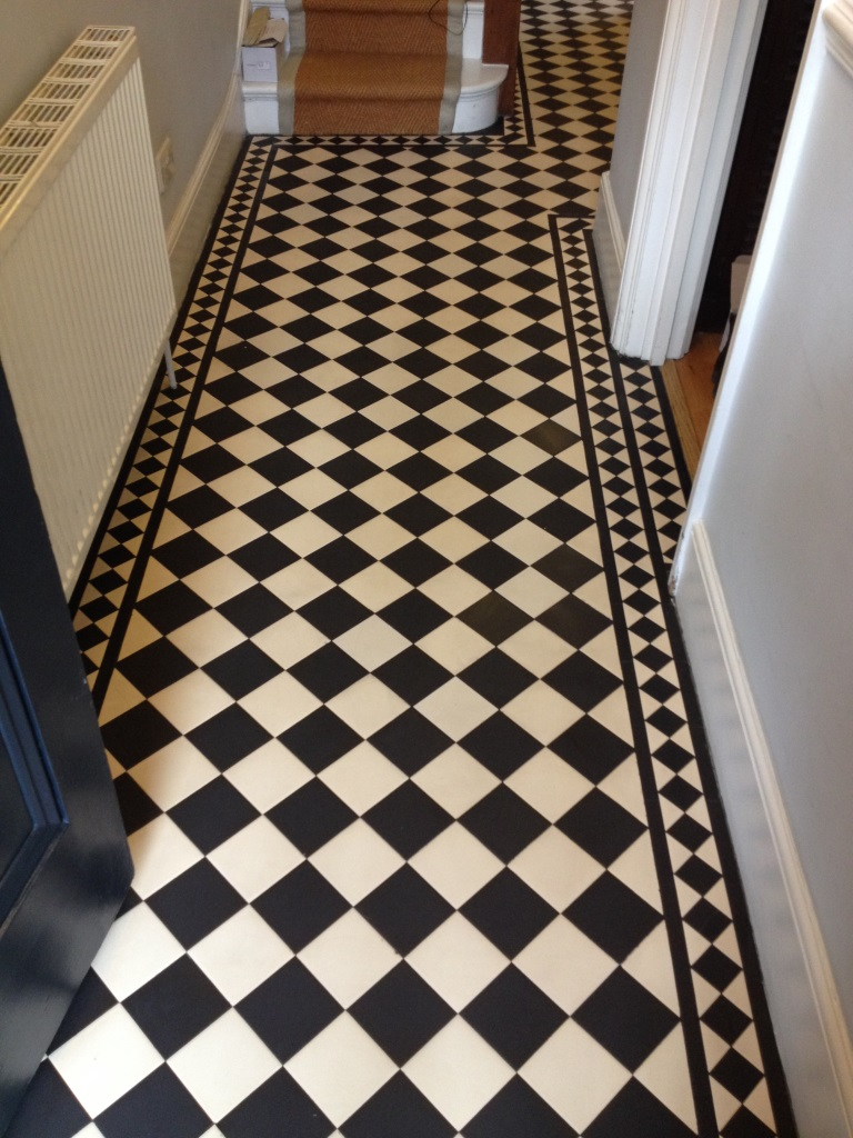 Edwardian style tiled floor twickenham after sealing