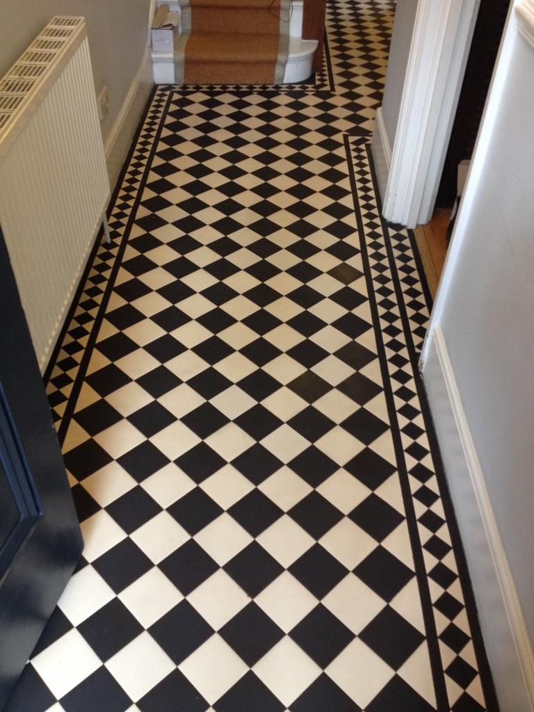 Edwardian style tiled floor twickenham after sealing