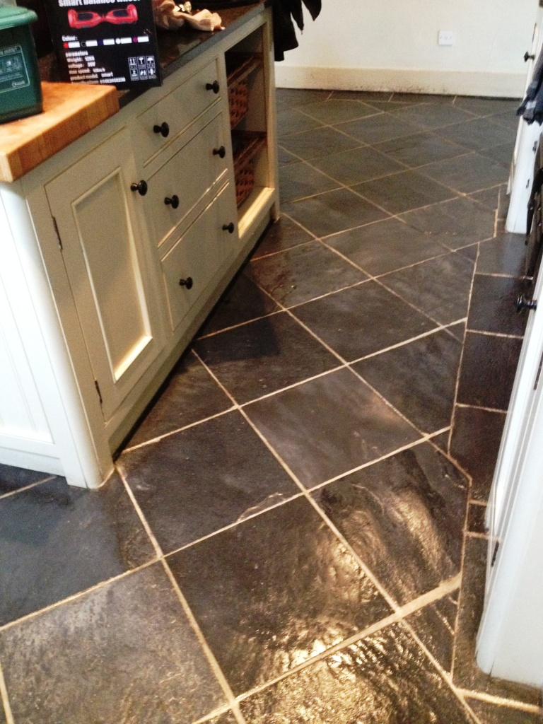 Slate Floor After Cleaning In Hampton