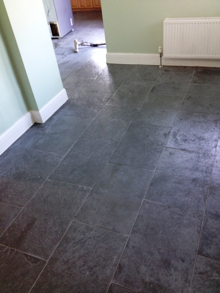 Getting the best from slate flooring stone cleaning and polishing slate floor before cleaning in shepperton dailygadgetfo Gallery