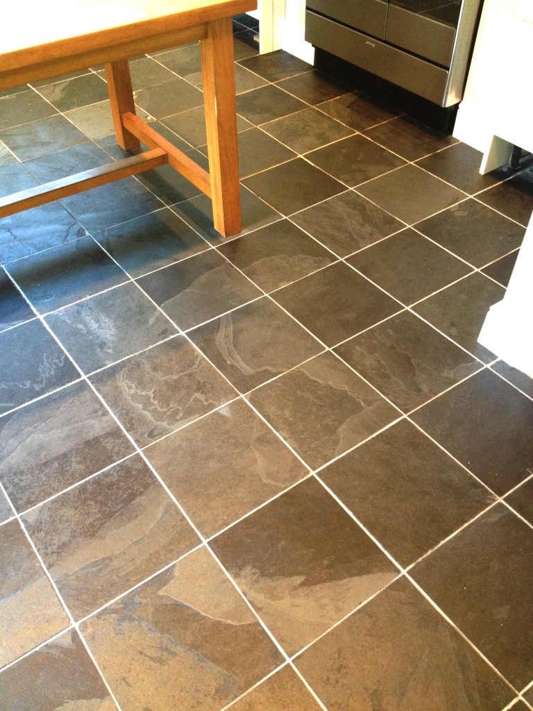 South middlesex tile doctor your local tile stone and grout slate tiles cleaned and sealed to restore condition and lustre slate floor before cleaning dailygadgetfo Gallery