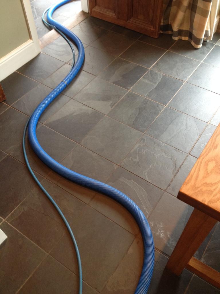 Slate Floor Before Cleaning in Twickenham