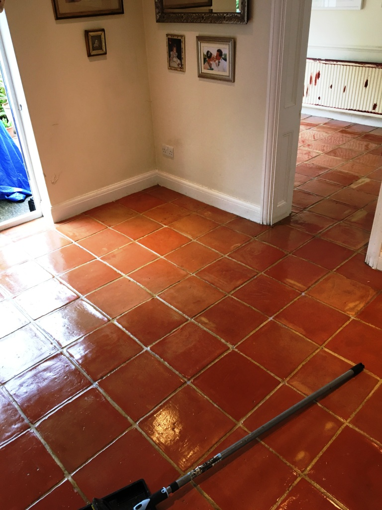 Tile sealing south middlesex tile doctor terracotta floor after deep clean and seal in twickenham doublecrazyfo Images