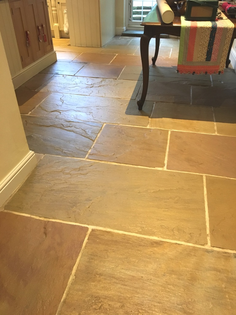 Slate Kitchen floor After Cleaning Sunbury-on-Thames