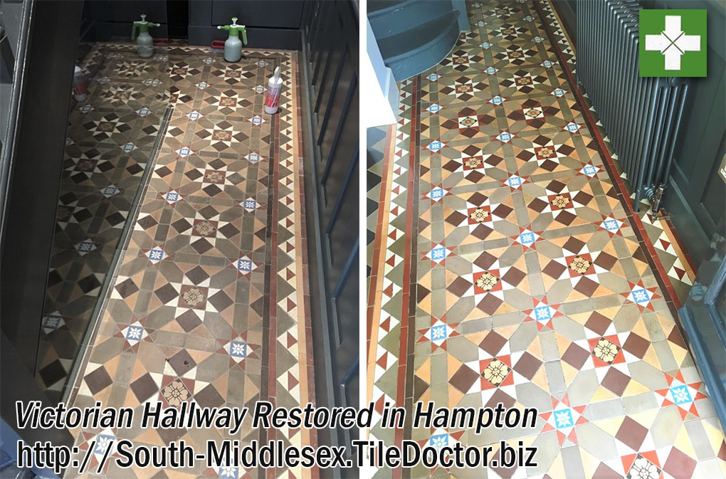 Victorian Hallway Floor Restored in Hampton