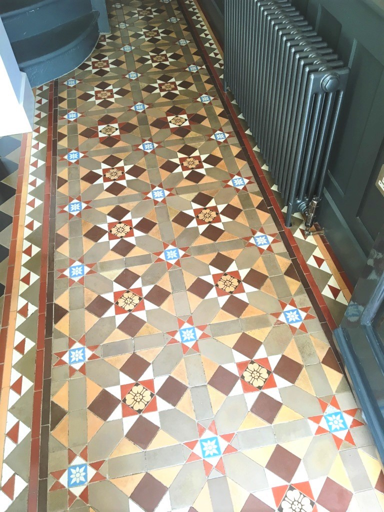 Victorian Tiled Hallway After Cleaning Hampton