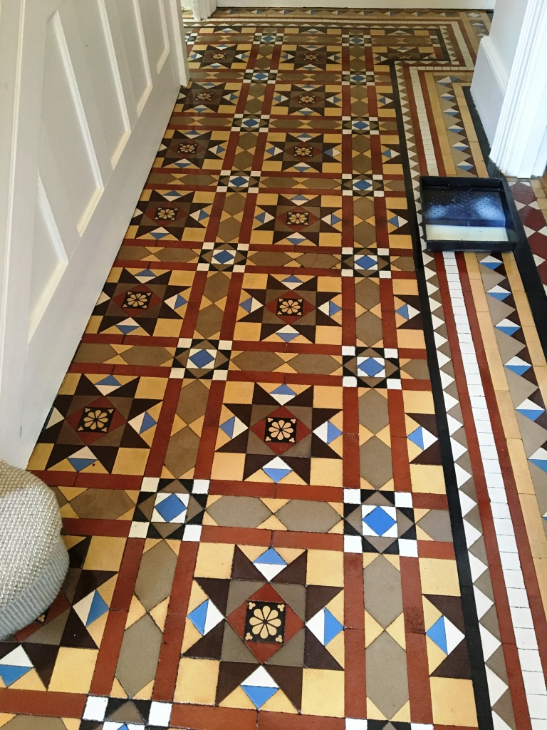 Victorian Tiled Hallway After Cleaning in Twickenham