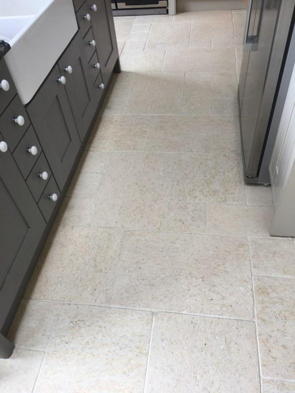 Limestone Tiled Floor After Cleaning Twickenham