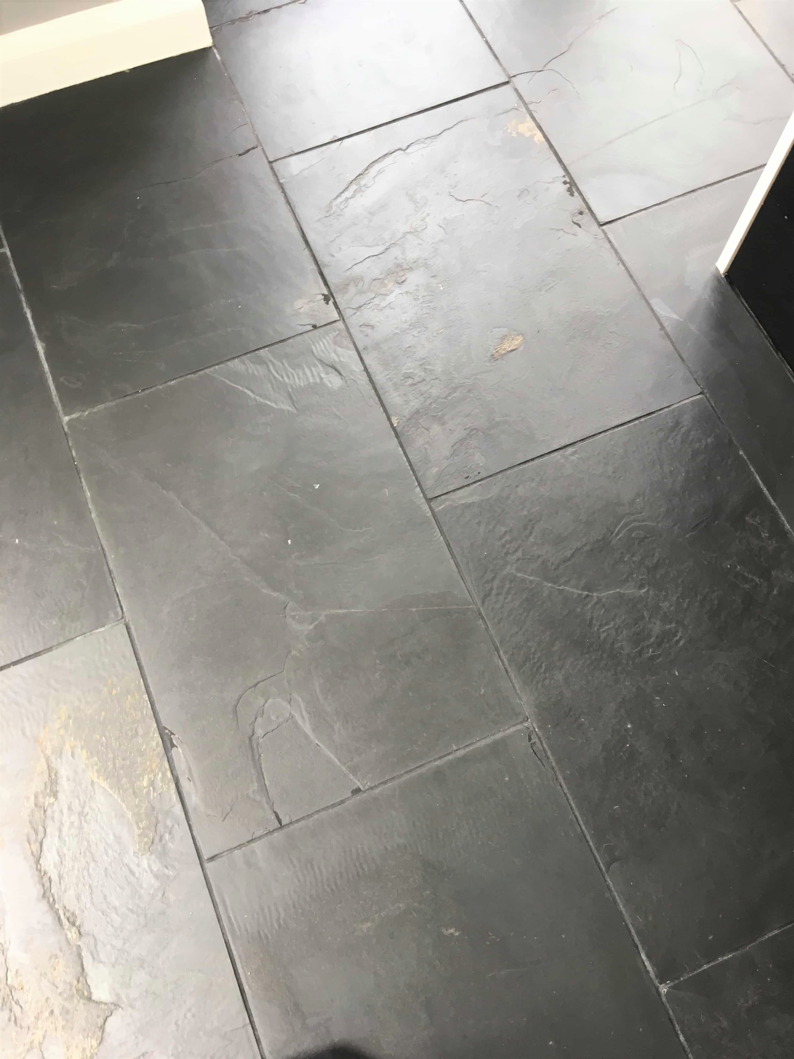 Slate Tiled Floor Hampton After Cleaning