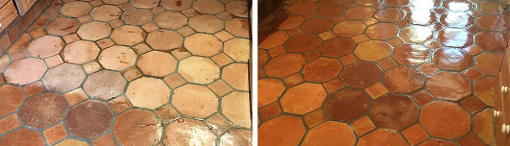 Renovating Varnished Terracotta Tiles in Teddington