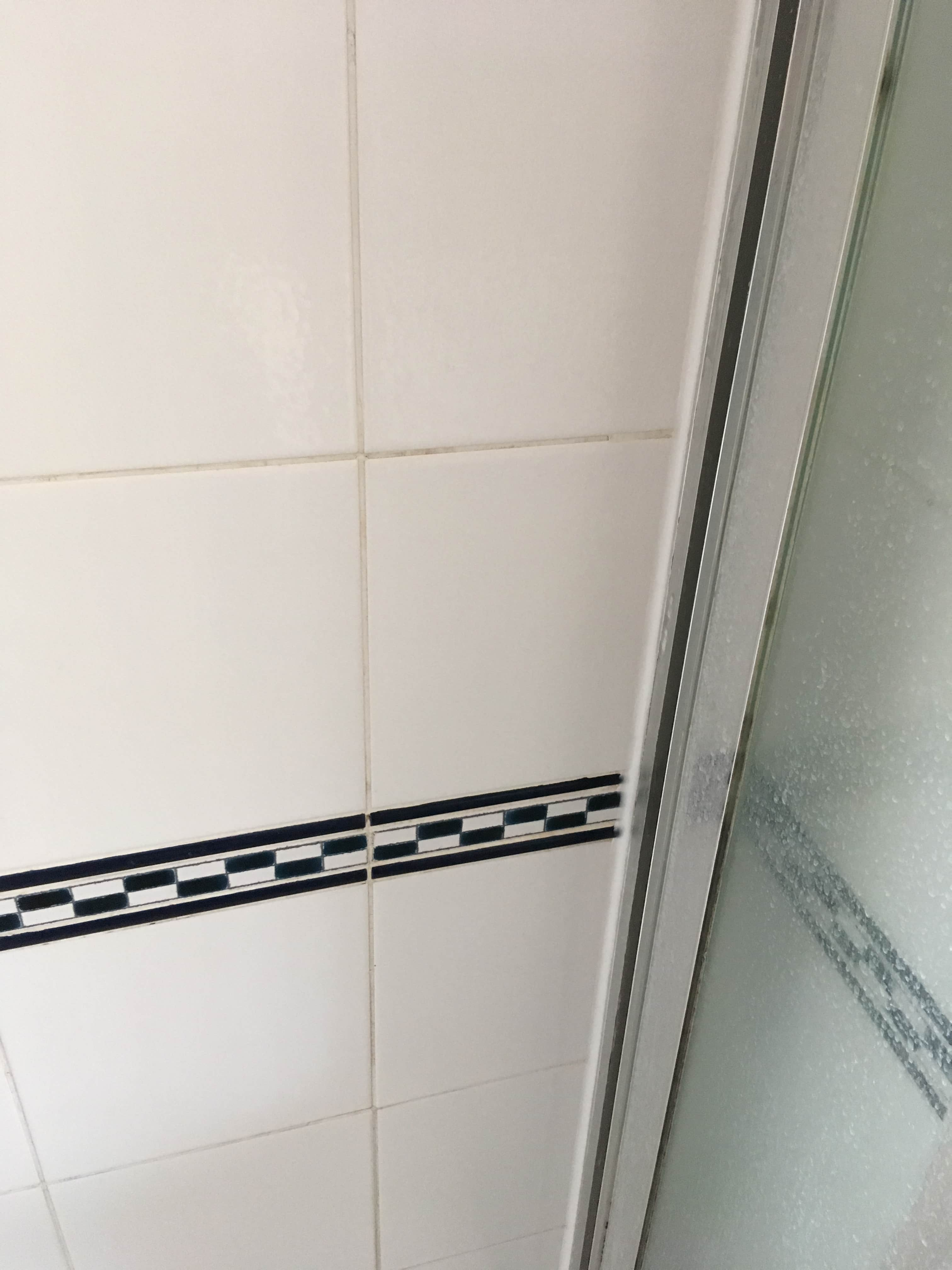 Ceramic Tiled Shower Cubicle After Cleaning Shepperton