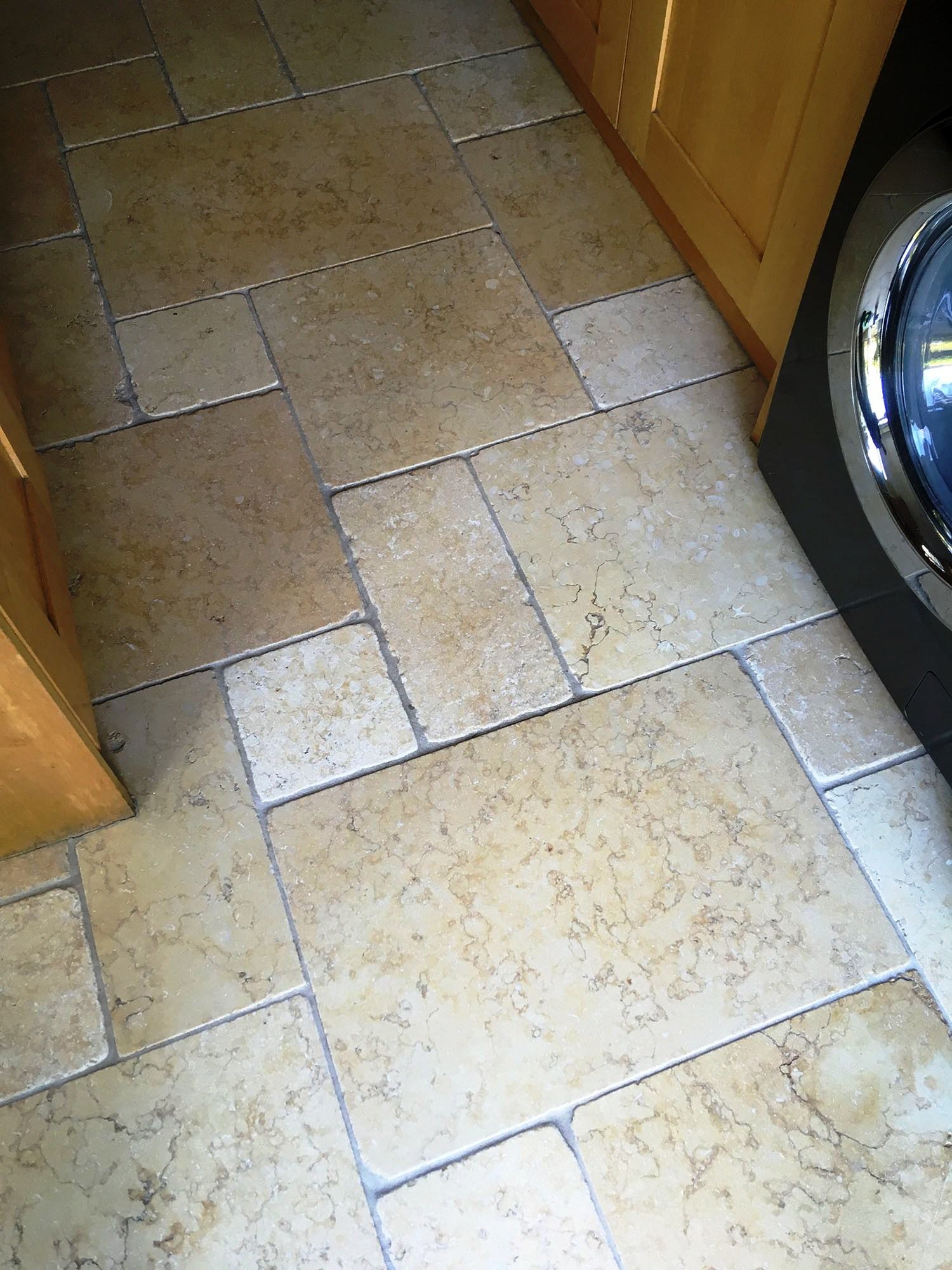 Limestone Kitchen Floor After Cleaning Shepperton