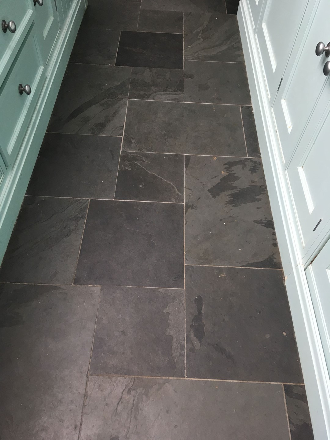Slate Floor Before Cleaning Walton-on-Thames