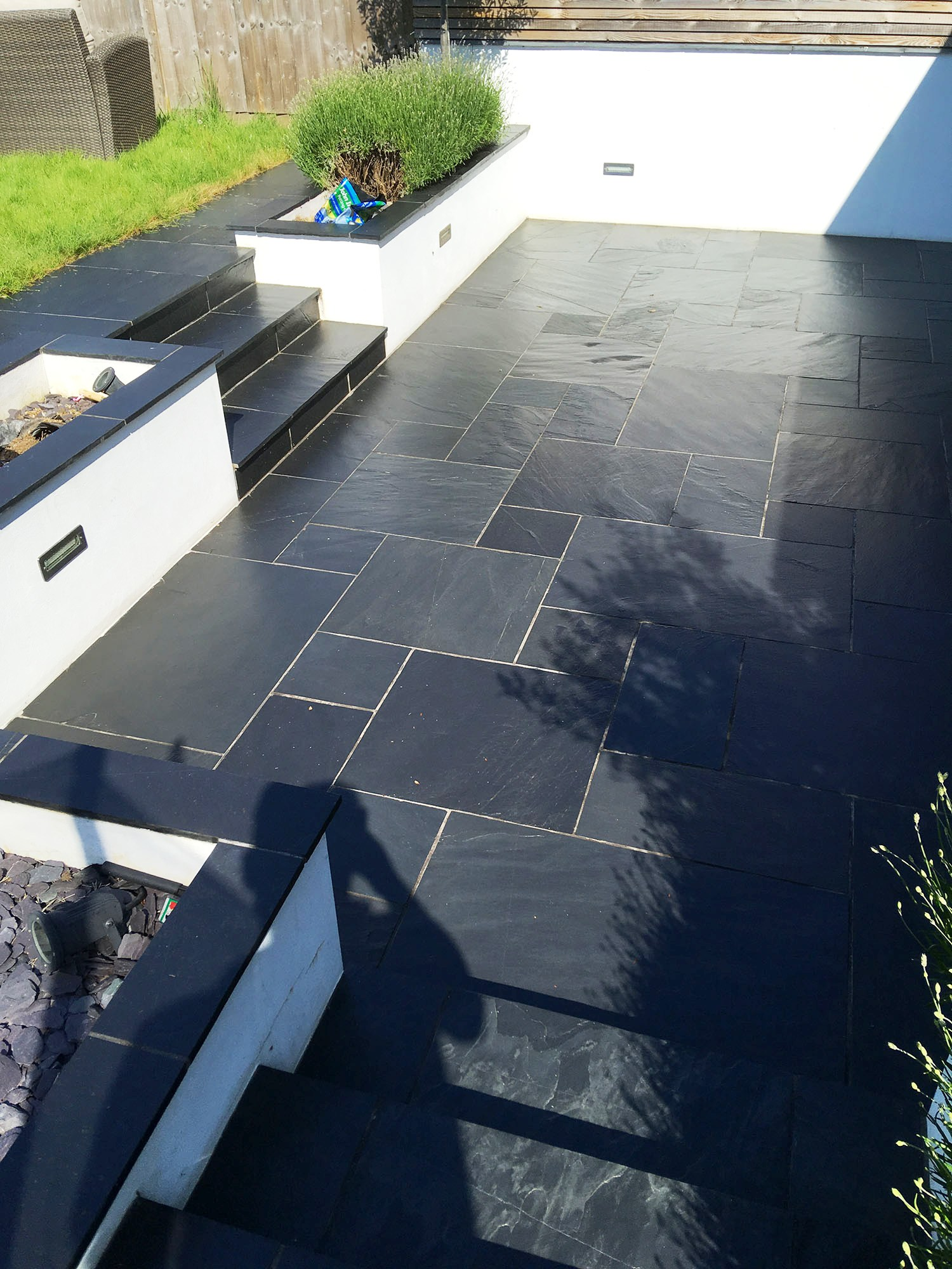 Slate Patio After Renovation Brentford