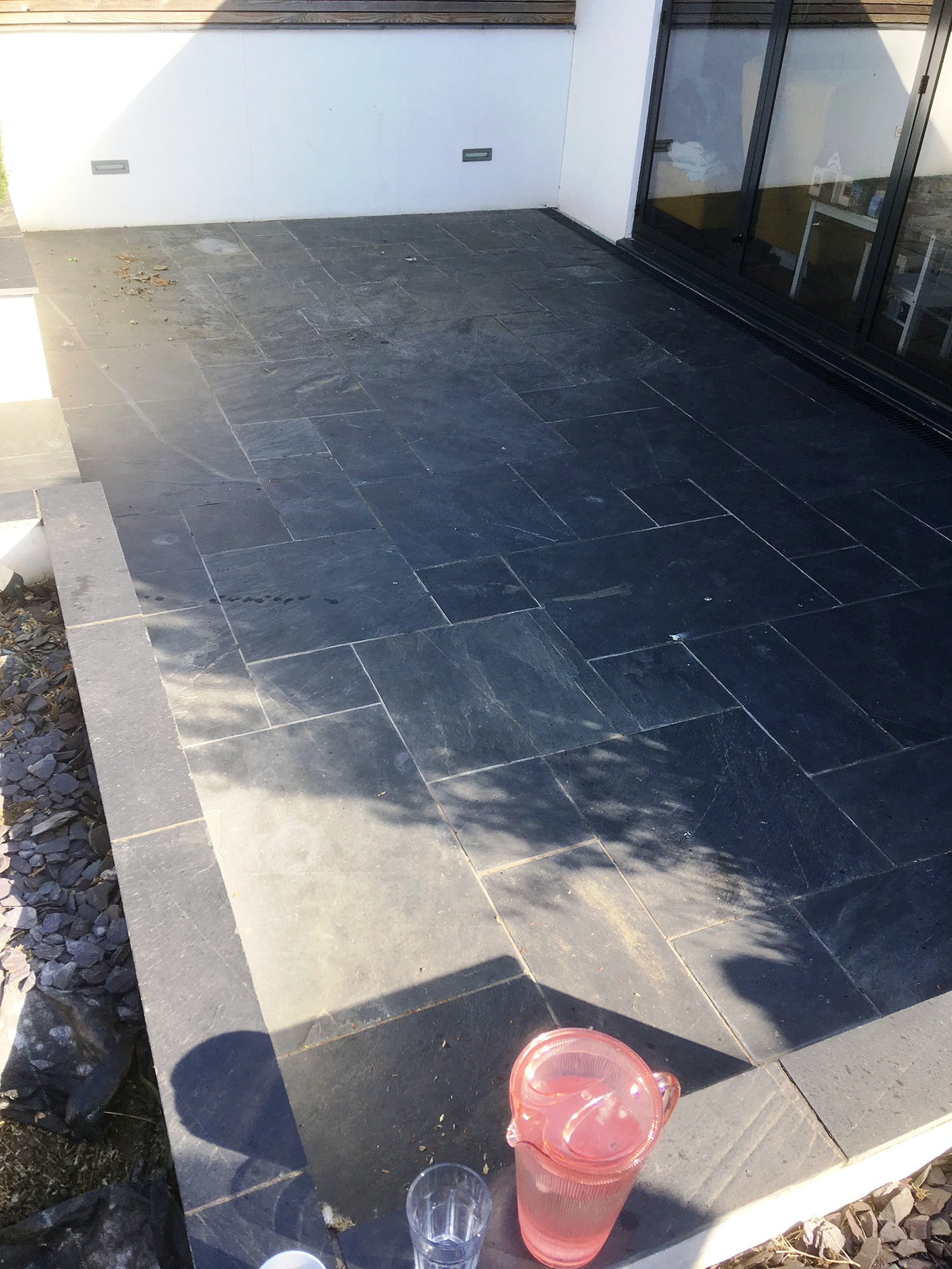 Slate Patio Before Renovation Brentford