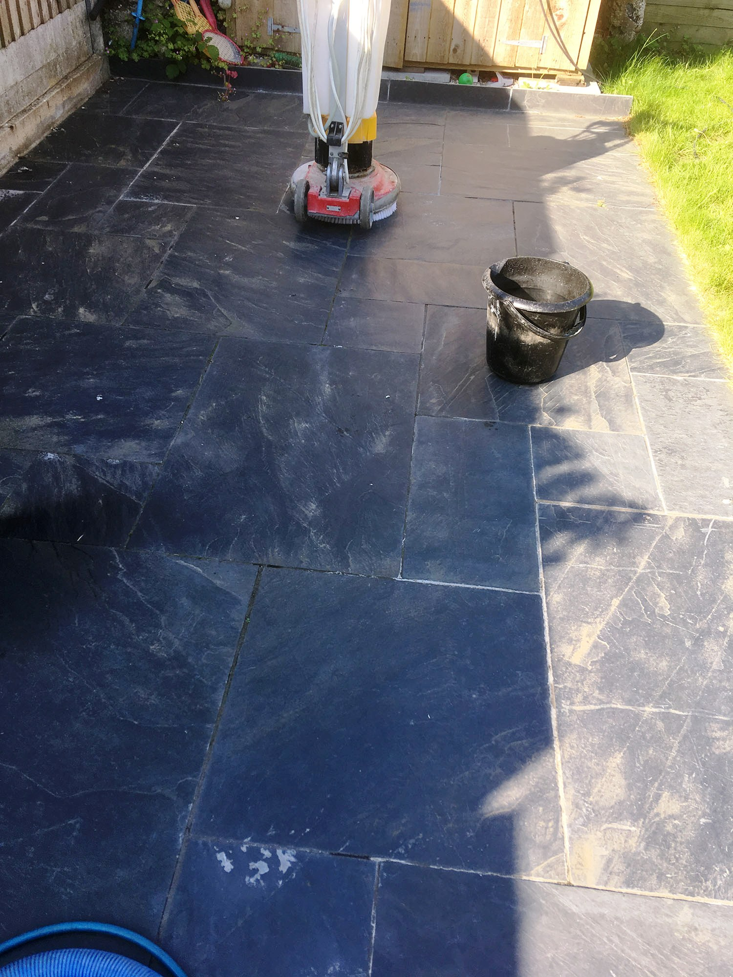 Slate Patio During Renovation Brentford