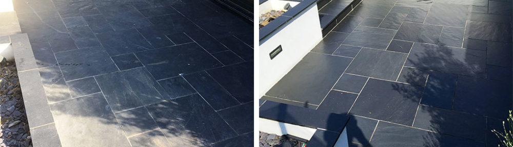 Renovation of Slate Tiled Patio in Brentford