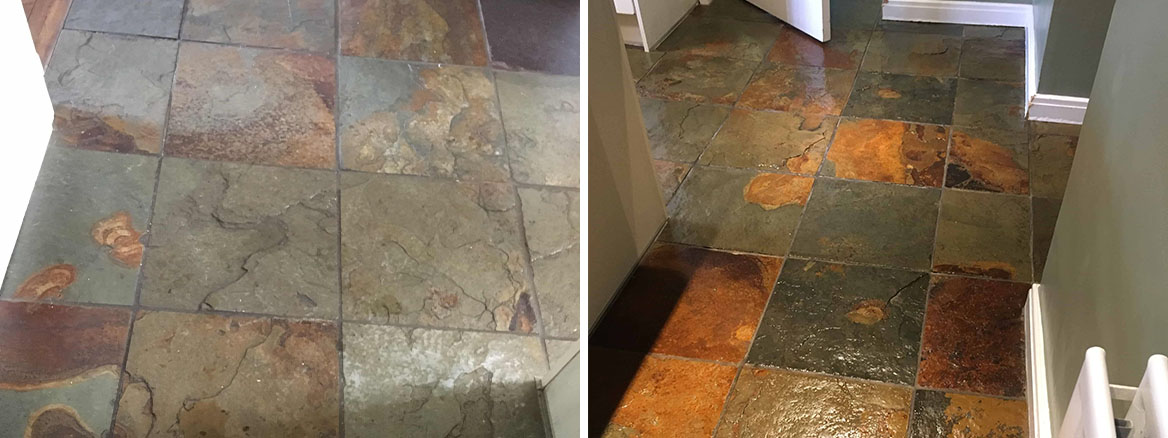Multi-Coloured-Slate-Floor-Before-After-Sealing-Staines-upon-Thames