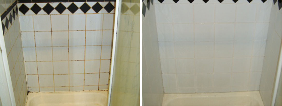 Shower Cubicle Before After Cleaning