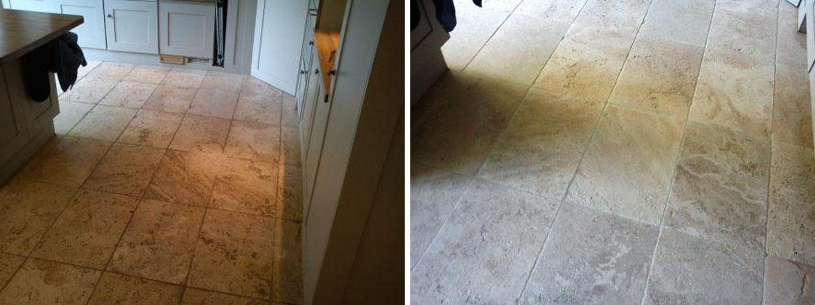 Stone Kitchen Floor Before After