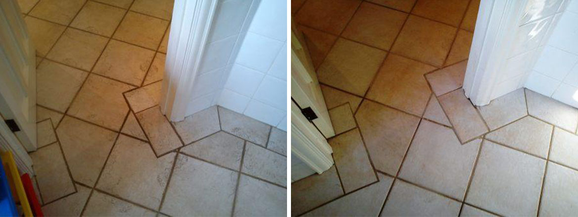 Tiled Floor Corner Before After