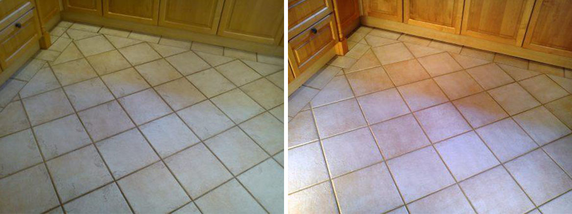 Tiled Kitchen Floor Before After