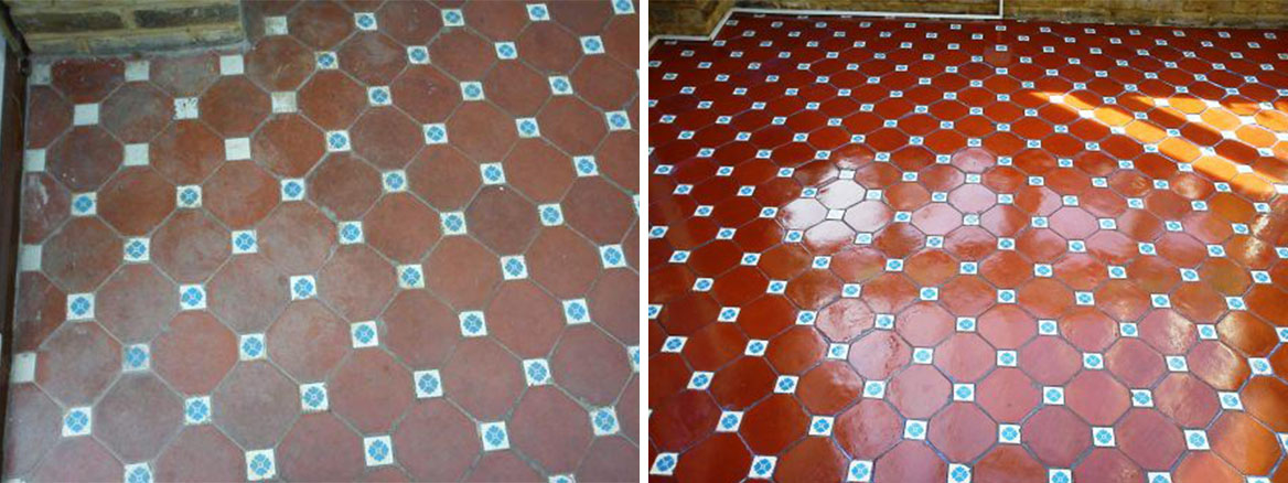 Victorian Floor Tile Before After