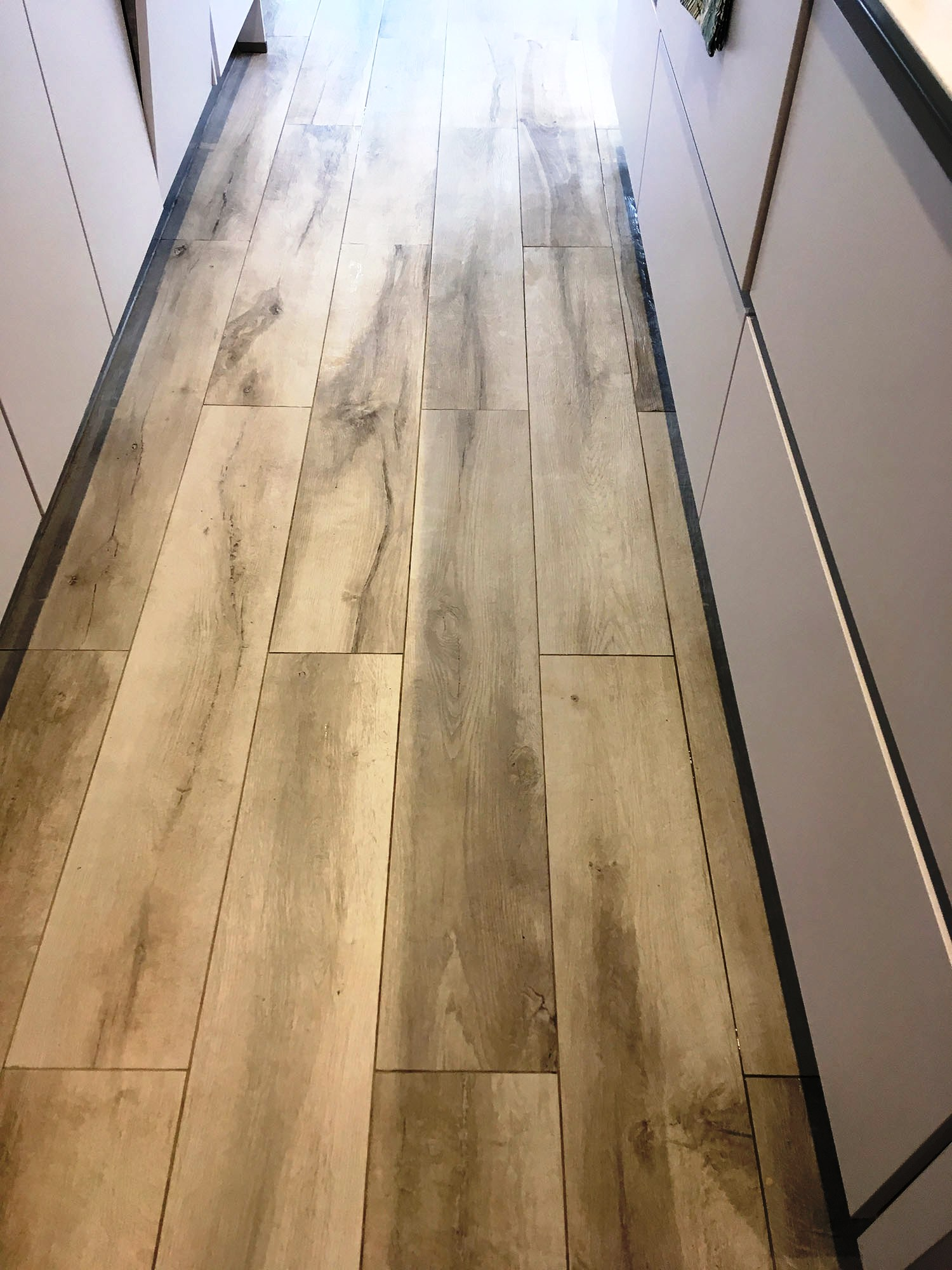 Wood Effect Porcelain Floor After Deep Cleaning Hampton