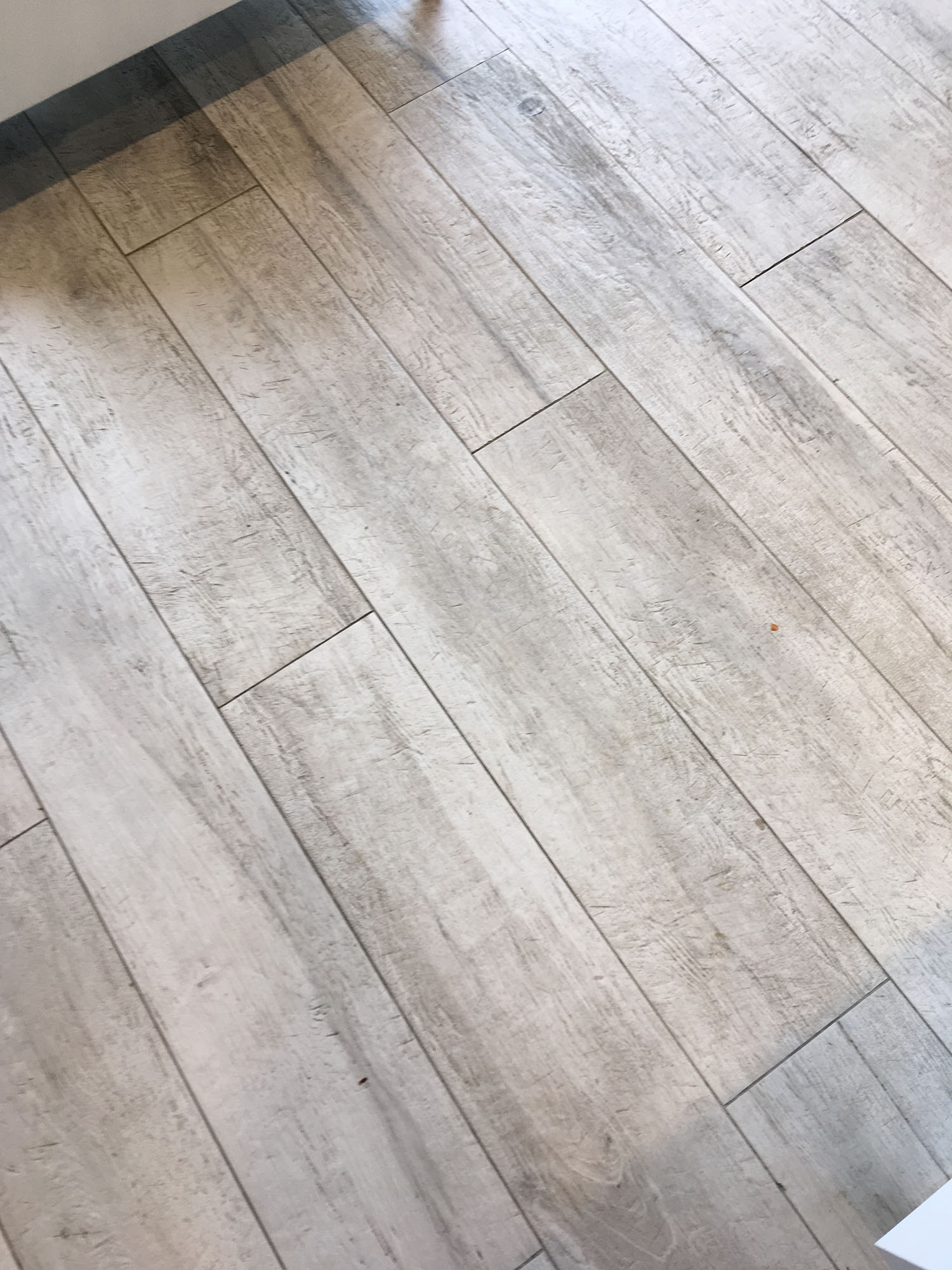Wood Effect Porcelain Floor Before Deep Cleaning Hampton