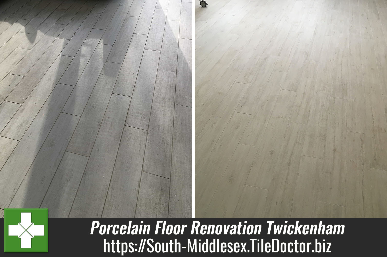 Porcelain Floor Before After Renovation Twickenham